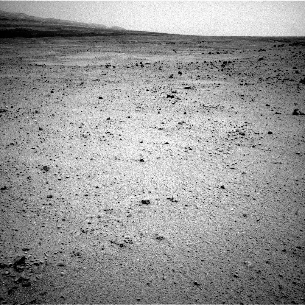 Nasa's Mars rover Curiosity acquired this image using its Left Navigation Camera on Sol 345, at drive 288, site number 10