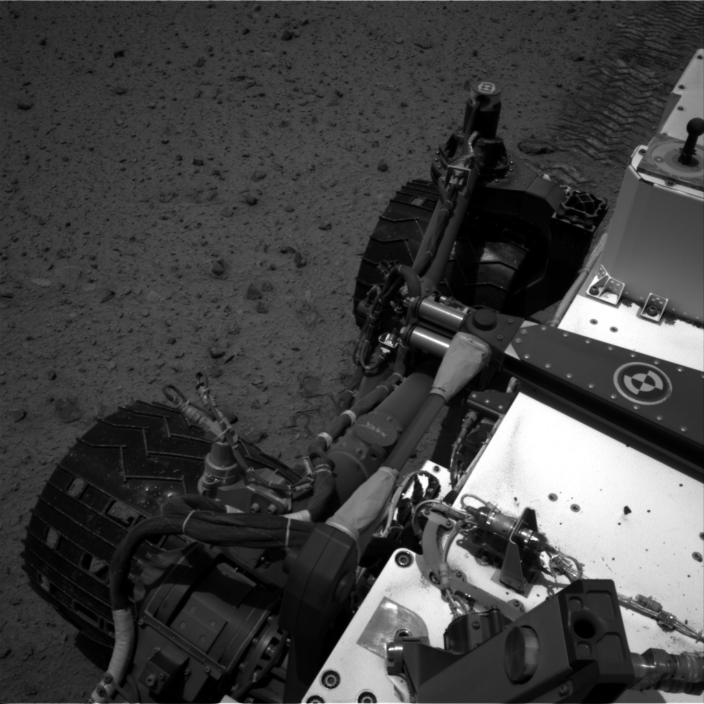 NASA's Mars rover Curiosity acquired this image using its Right Navigation Cameras (Navcams) on Sol 345