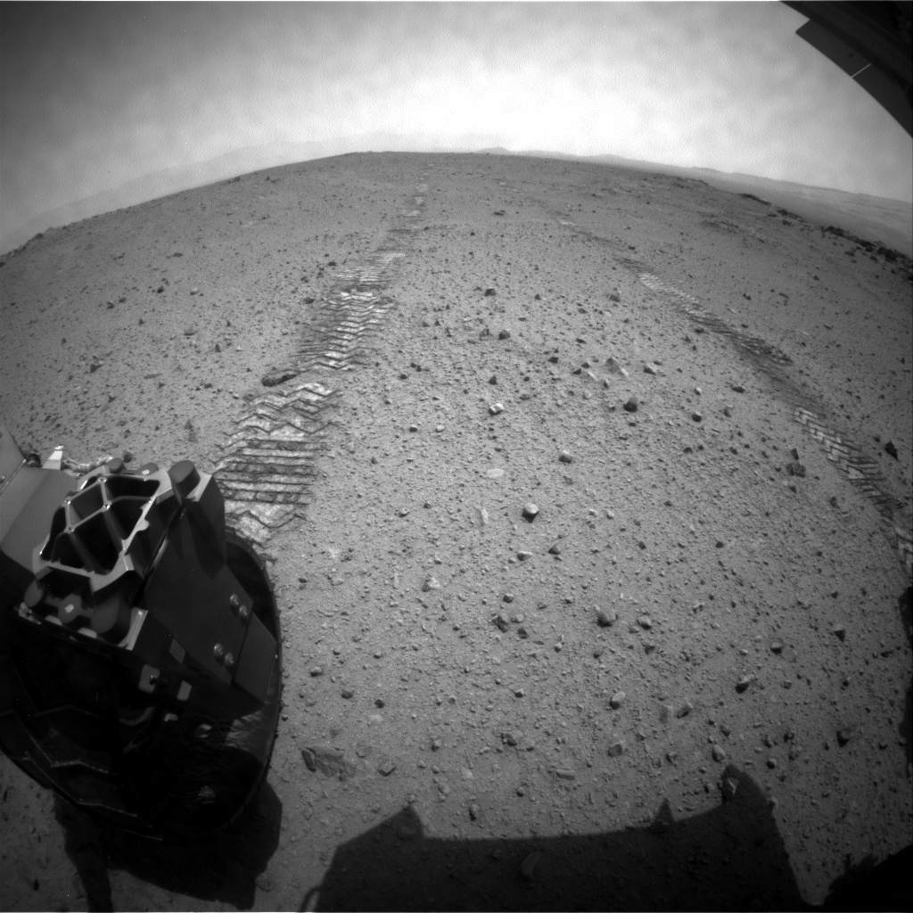 NASA's Mars rover Curiosity acquired this image using its Rear Hazard Avoidance Cameras (Rear Hazcams) on Sol 346
