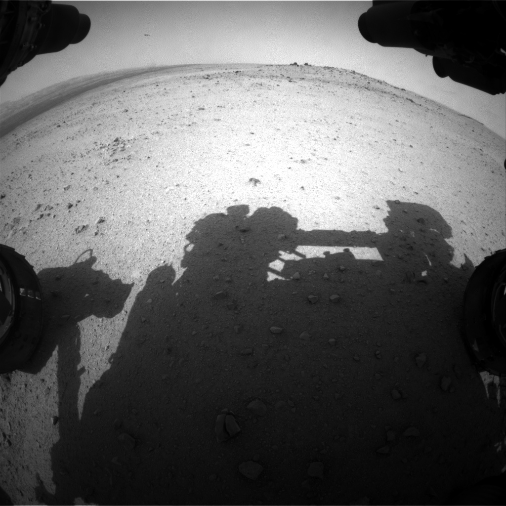 Nasa's Mars rover Curiosity acquired this image using its Front Hazard Avoidance Camera (Front Hazcam) on Sol 347, at drive 288, site number 10