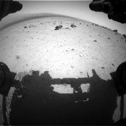NASA's Mars rover Curiosity acquired this image using its Front Hazard Avoidance Cameras (Front Hazcams) on Sol 347