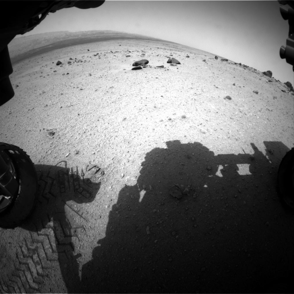 Nasa's Mars rover Curiosity acquired this image using its Front Hazard Avoidance Camera (Front Hazcam) on Sol 348, at drive 508, site number 10