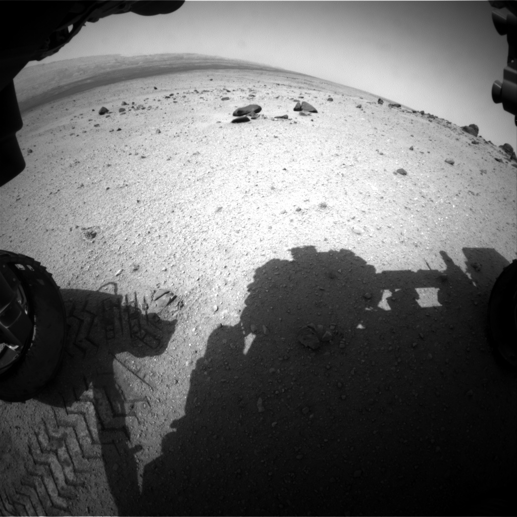 Nasa's Mars rover Curiosity acquired this image using its Front Hazard Avoidance Camera (Front Hazcam) on Sol 349, at drive 508, site number 10