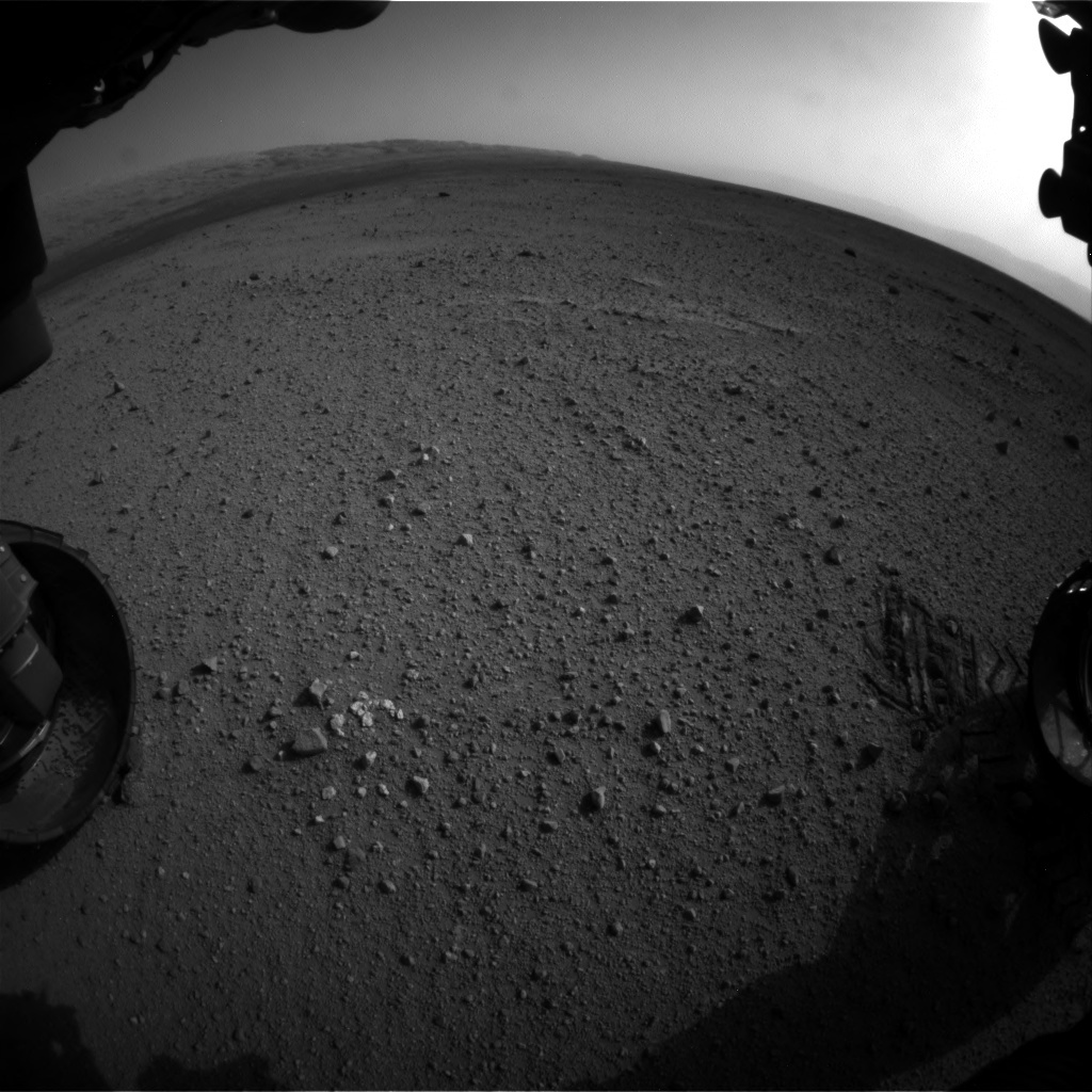 NASA's Mars rover Curiosity acquired this image using its Front Hazard Avoidance Cameras (Front Hazcams) on Sol 349