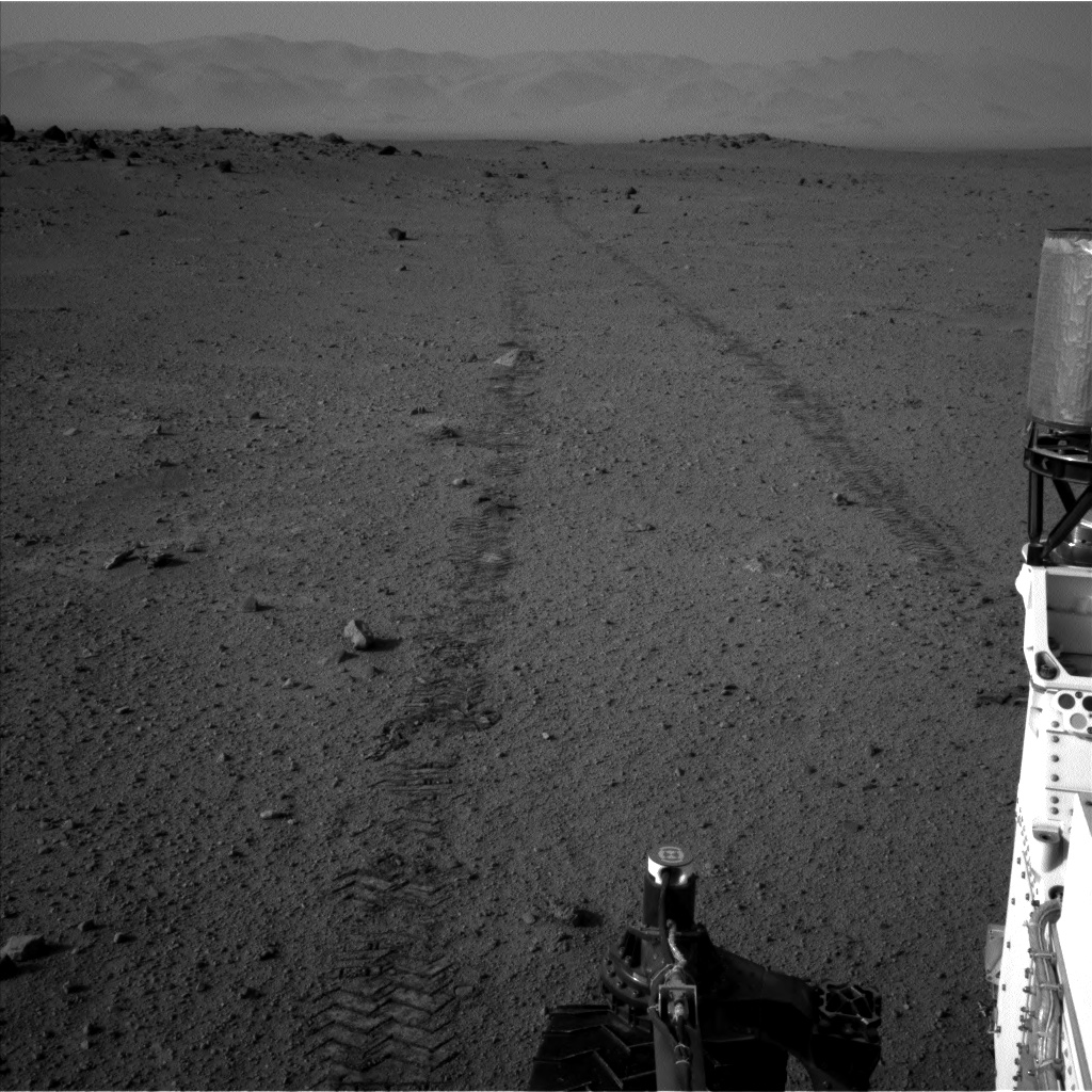 Nasa's Mars rover Curiosity acquired this image using its Left Navigation Camera on Sol 349, at drive 0, site number 11