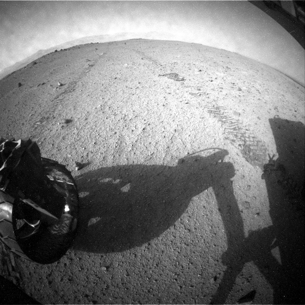 NASA's Mars rover Curiosity acquired this image using its Rear Hazard Avoidance Cameras (Rear Hazcams) on Sol 349