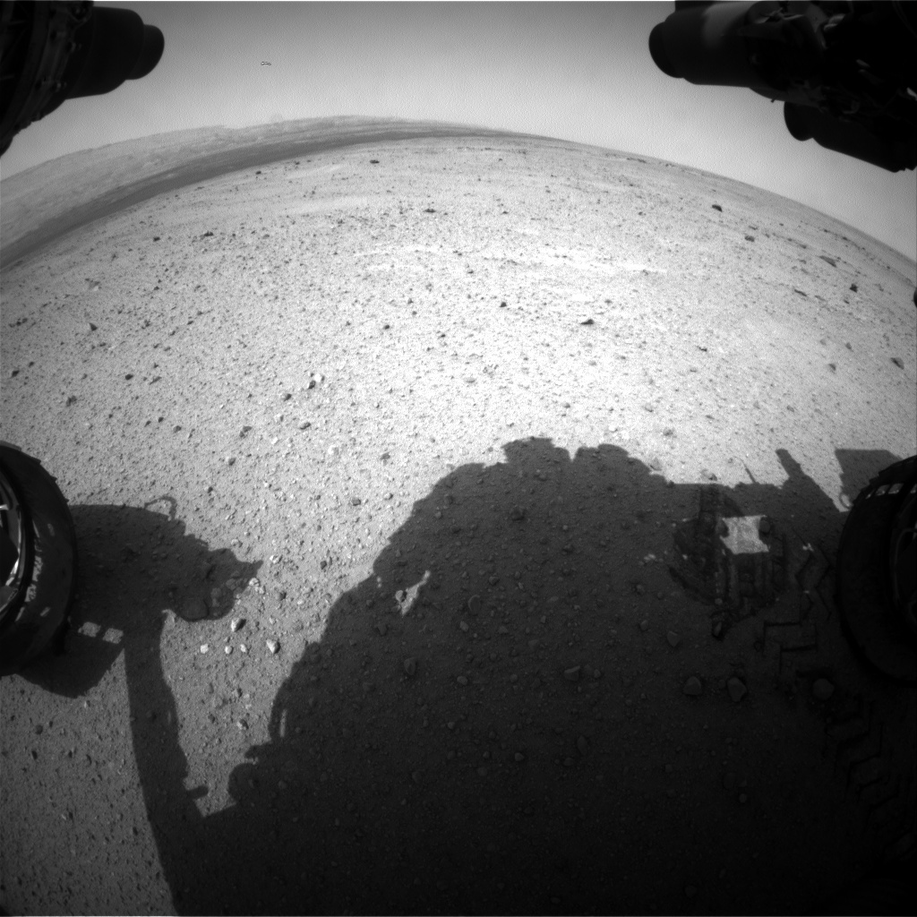 NASA's Mars rover Curiosity acquired this image using its Front Hazard Avoidance Cameras (Front Hazcams) on Sol 350