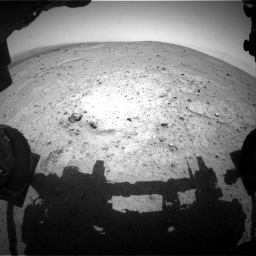 NASA's Mars rover Curiosity acquired this image using its Front Hazard Avoidance Cameras (Front Hazcams) on Sol 351