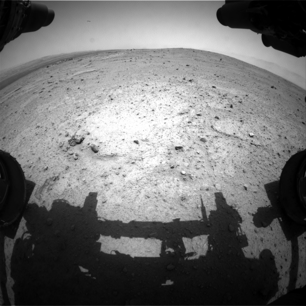 Nasa's Mars rover Curiosity acquired this image using its Front Hazard Avoidance Camera (Front Hazcam) on Sol 351, at drive 302, site number 11
