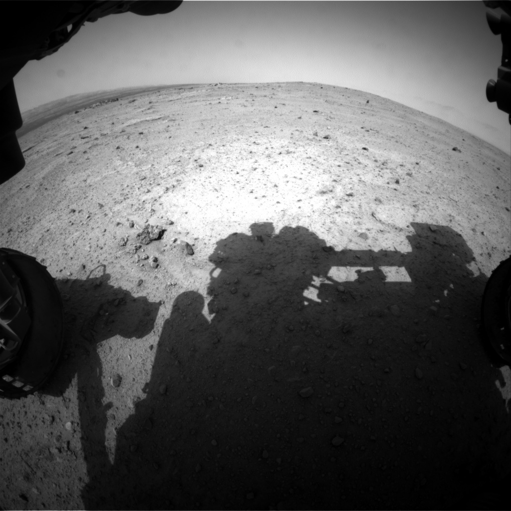 NASA's Mars rover Curiosity acquired this image using its Front Hazard Avoidance Cameras (Front Hazcams) on Sol 352