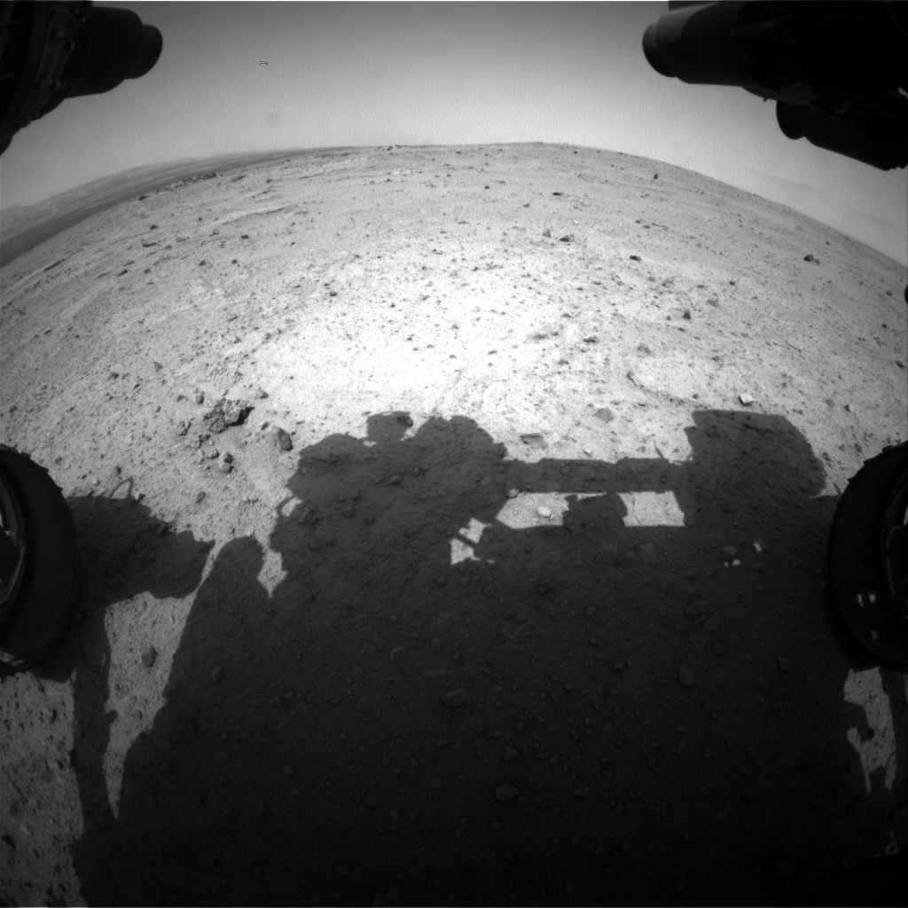 NASA's Mars rover Curiosity acquired this image using its Front Hazard Avoidance Cameras (Front Hazcams) on Sol 353