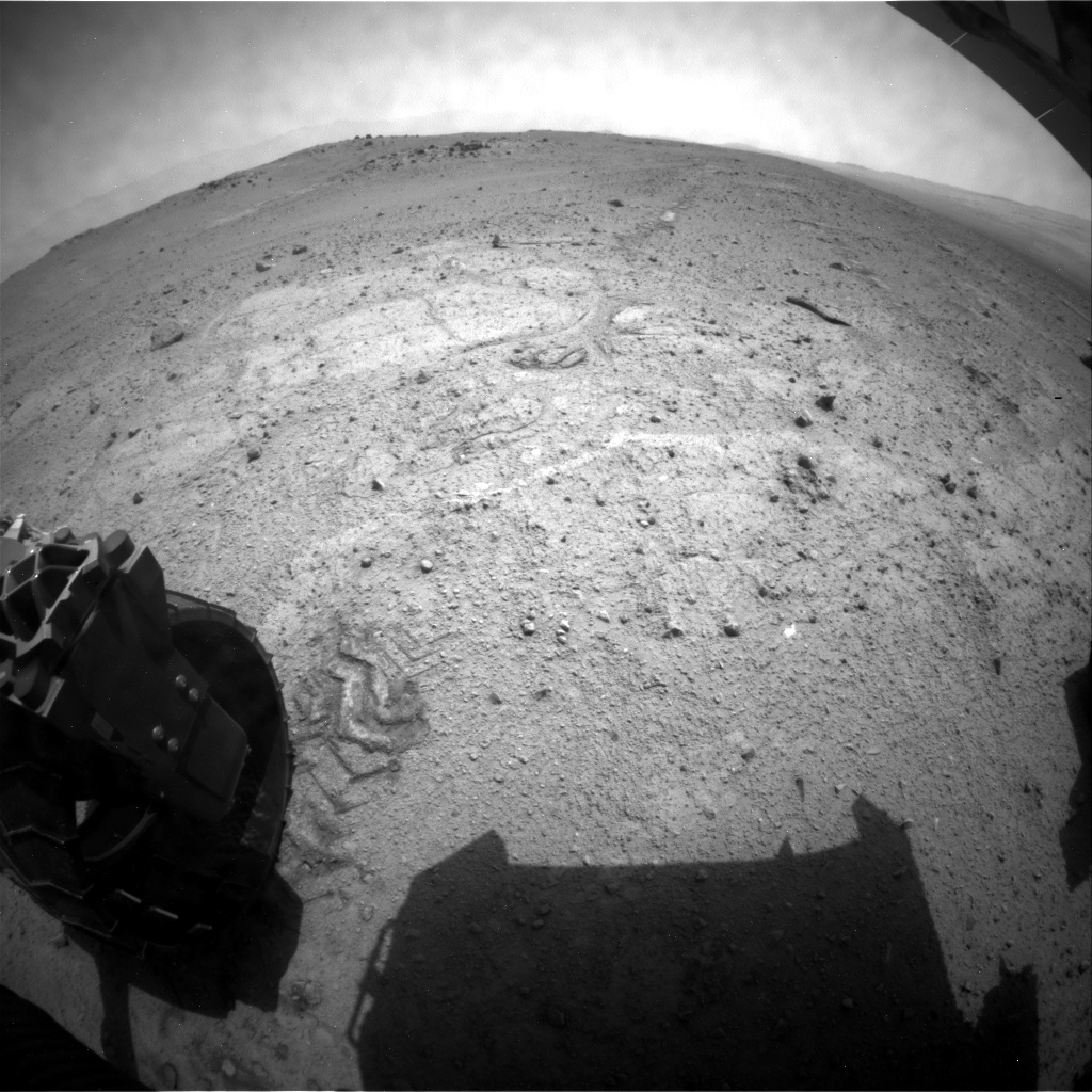 NASA's Mars rover Curiosity acquired this image using its Rear Hazard Avoidance Cameras (Rear Hazcams) on Sol 353