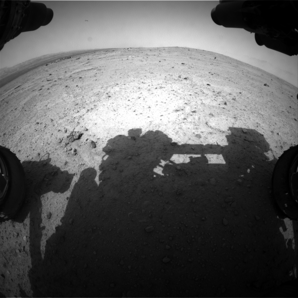 Nasa's Mars rover Curiosity acquired this image using its Front Hazard Avoidance Camera (Front Hazcam) on Sol 354, at drive 302, site number 11