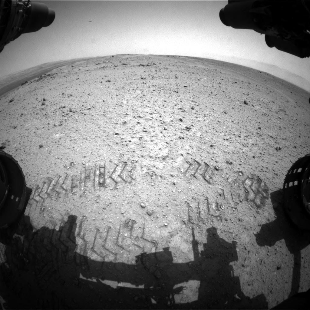 Nasa's Mars rover Curiosity acquired this image using its Front Hazard Avoidance Camera (Front Hazcam) on Sol 354, at drive 522, site number 11