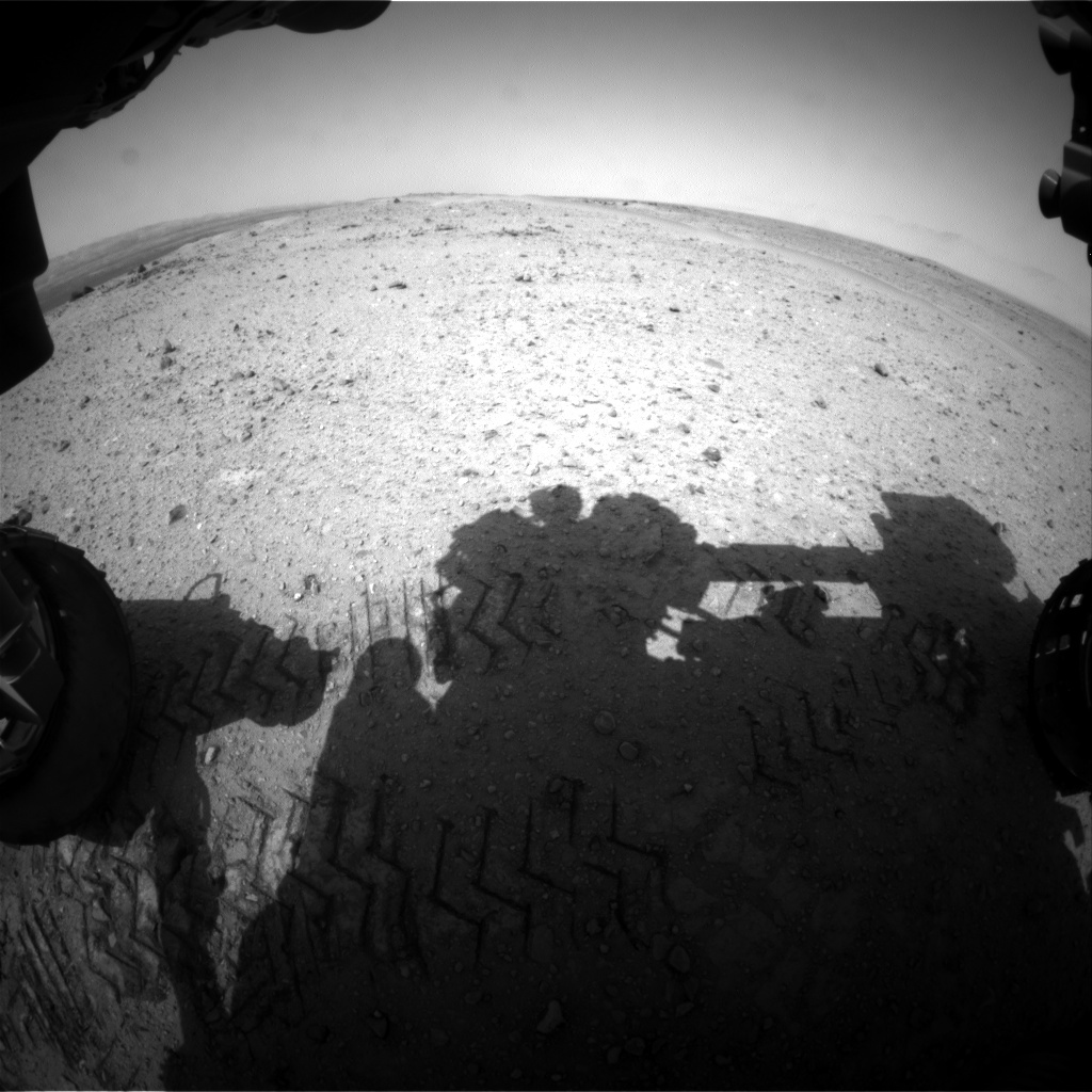 NASA's Mars rover Curiosity acquired this image using its Front Hazard Avoidance Cameras (Front Hazcams) on Sol 355