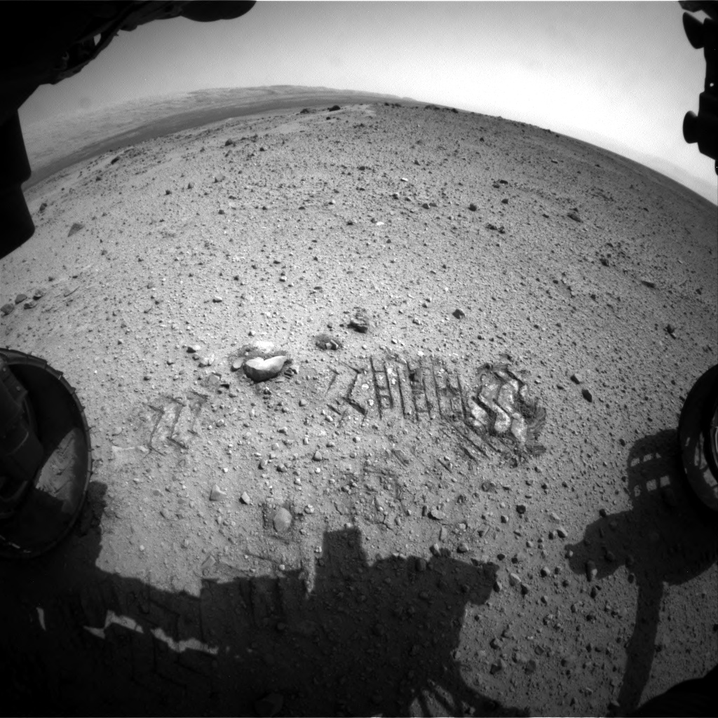 Nasa's Mars rover Curiosity acquired this image using its Front Hazard Avoidance Camera (Front Hazcam) on Sol 356, at drive 748, site number 11