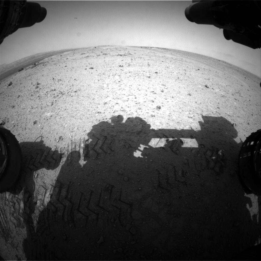 Nasa's Mars rover Curiosity acquired this image using its Front Hazard Avoidance Camera (Front Hazcam) on Sol 356, at drive 522, site number 11