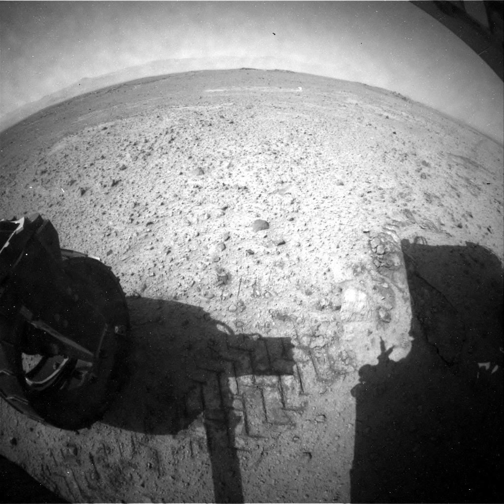 NASA's Mars rover Curiosity acquired this image using its Rear Hazard Avoidance Cameras (Rear Hazcams) on Sol 356