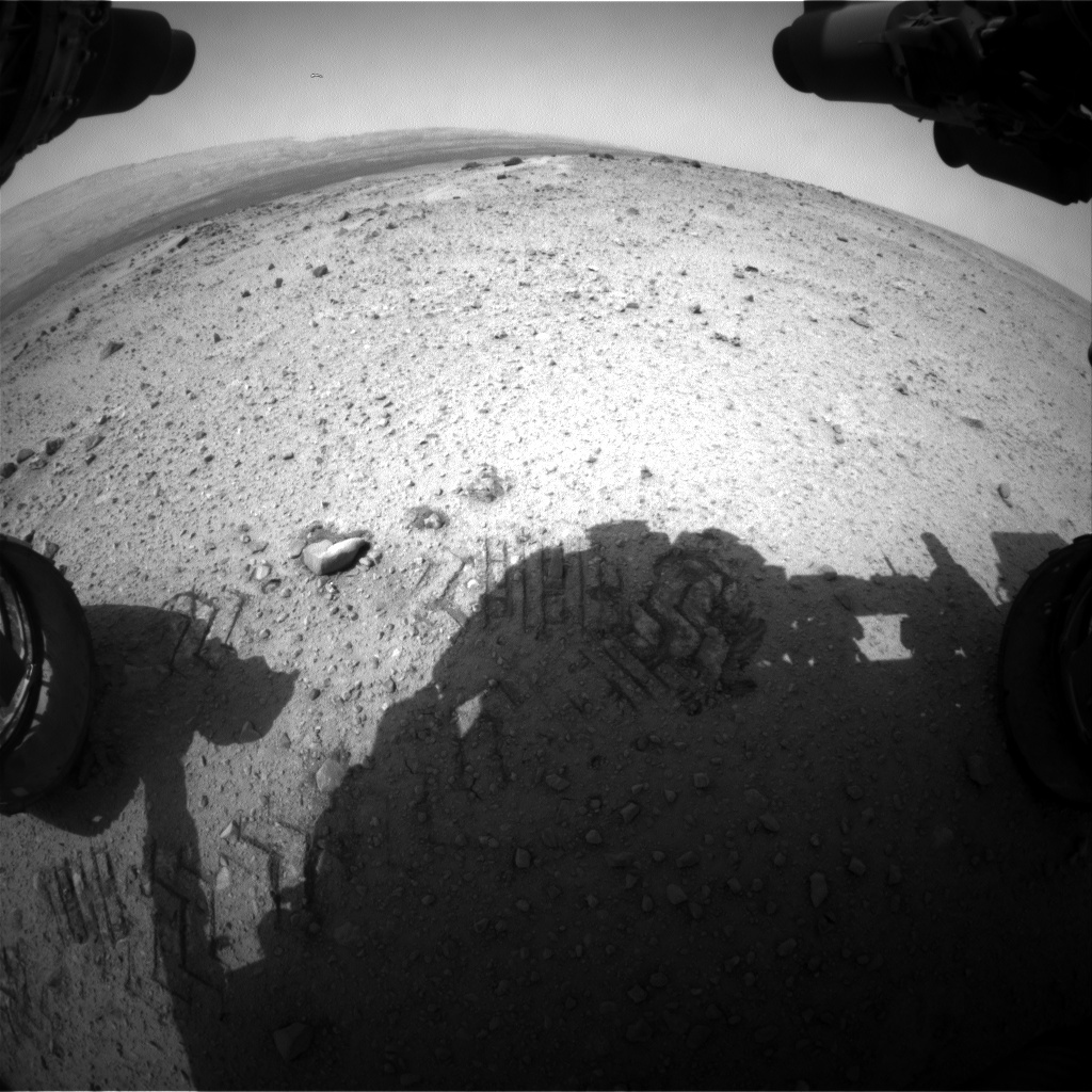 NASA's Mars rover Curiosity acquired this image using its Front Hazard Avoidance Cameras (Front Hazcams) on Sol 357