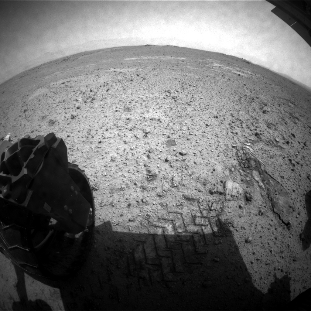 NASA's Mars rover Curiosity acquired this image using its Rear Hazard Avoidance Cameras (Rear Hazcams) on Sol 357
