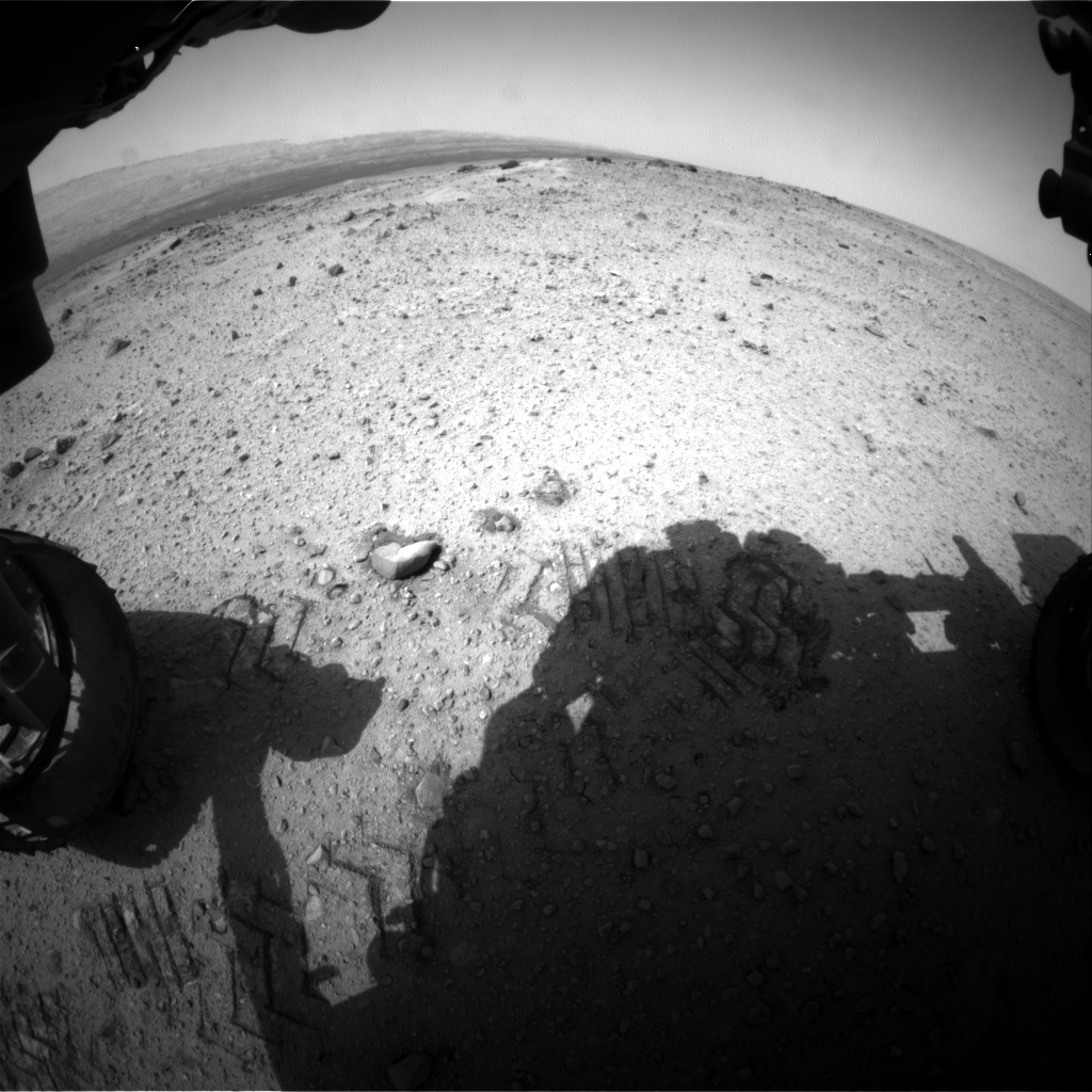 Nasa's Mars rover Curiosity acquired this image using its Front Hazard Avoidance Camera (Front Hazcam) on Sol 358, at drive 748, site number 11