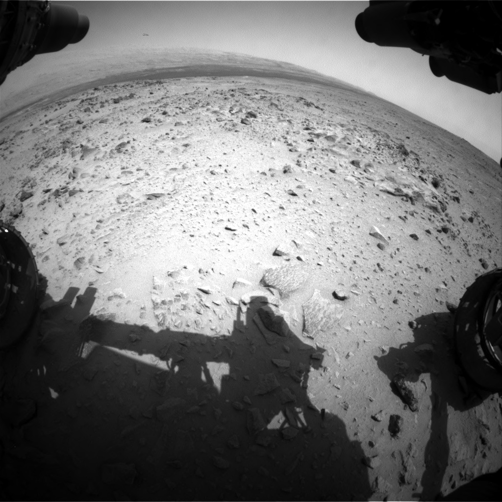 Nasa's Mars rover Curiosity acquired this image using its Front Hazard Avoidance Camera (Front Hazcam) on Sol 358, at drive 856, site number 11