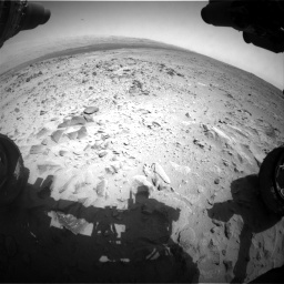 Nasa's Mars rover Curiosity acquired this image using its Front Hazard Avoidance Camera (Front Hazcam) on Sol 358, at drive 874, site number 11