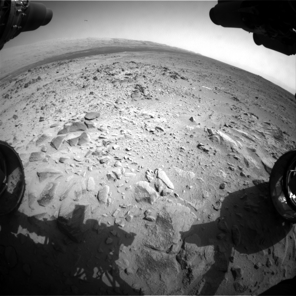 Nasa's Mars rover Curiosity acquired this image using its Front Hazard Avoidance Camera (Front Hazcam) on Sol 358, at drive 0, site number 12