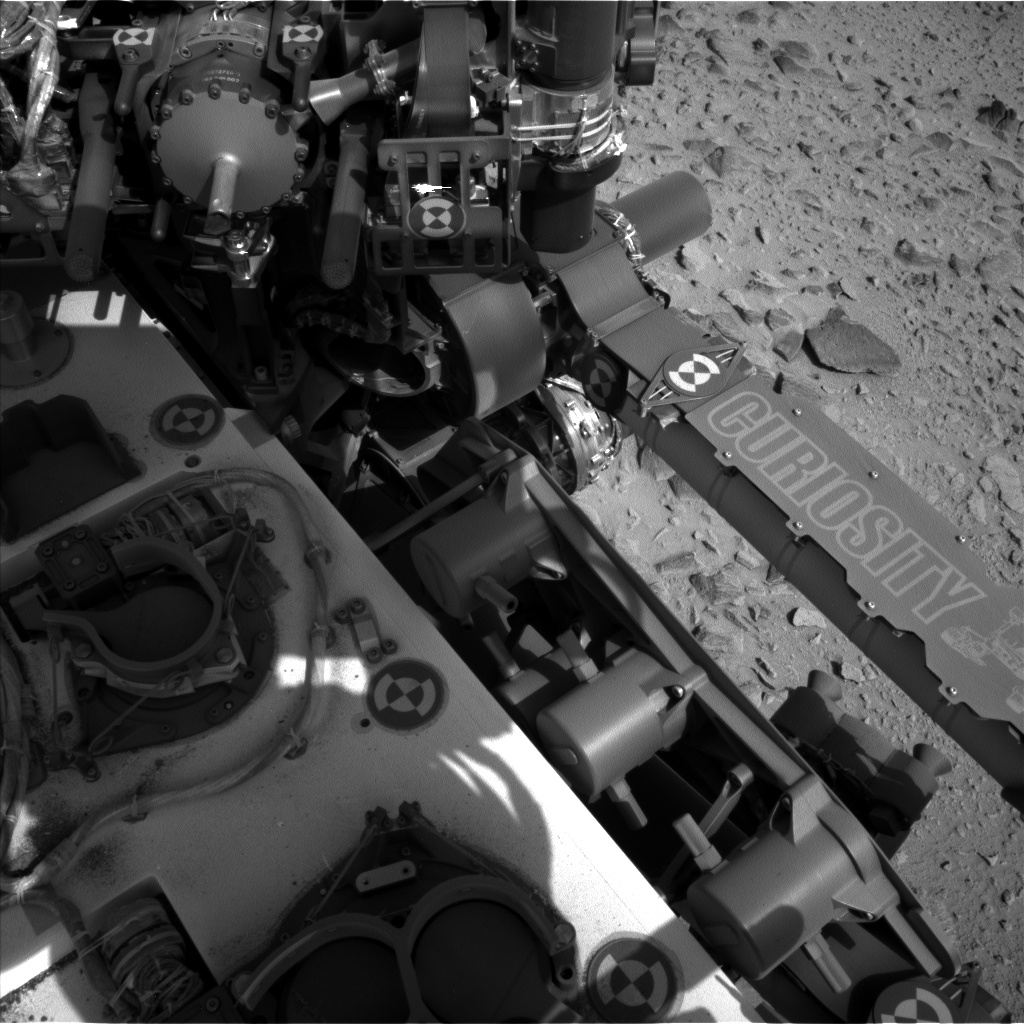 Nasa's Mars rover Curiosity acquired this image using its Left Navigation Camera on Sol 358, at drive 0, site number 12