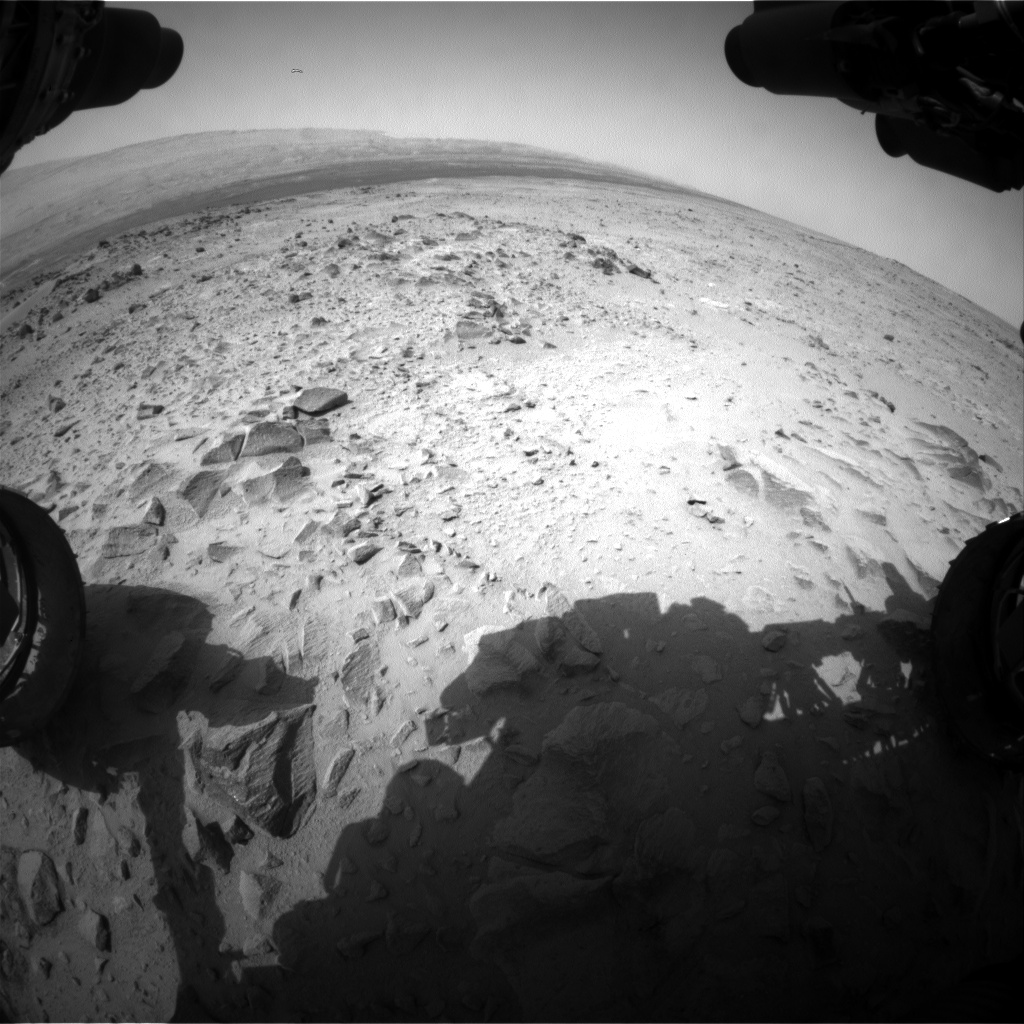 Nasa's Mars rover Curiosity acquired this image using its Front Hazard Avoidance Camera (Front Hazcam) on Sol 359, at drive 0, site number 12