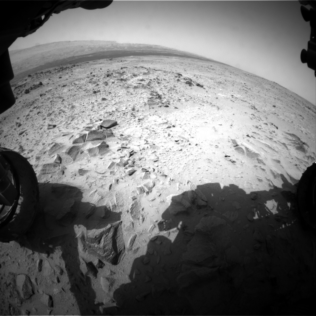 Nasa's Mars rover Curiosity acquired this image using its Front Hazard Avoidance Camera (Front Hazcam) on Sol 360, at drive 0, site number 12
