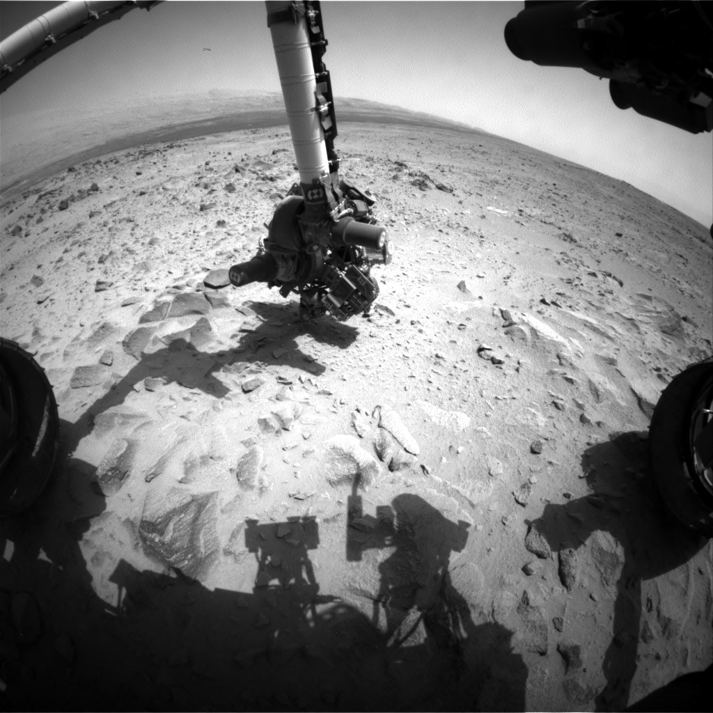 NASA's Mars rover Curiosity acquired this image using its Front Hazard Avoidance Cameras (Front Hazcams) on Sol 360