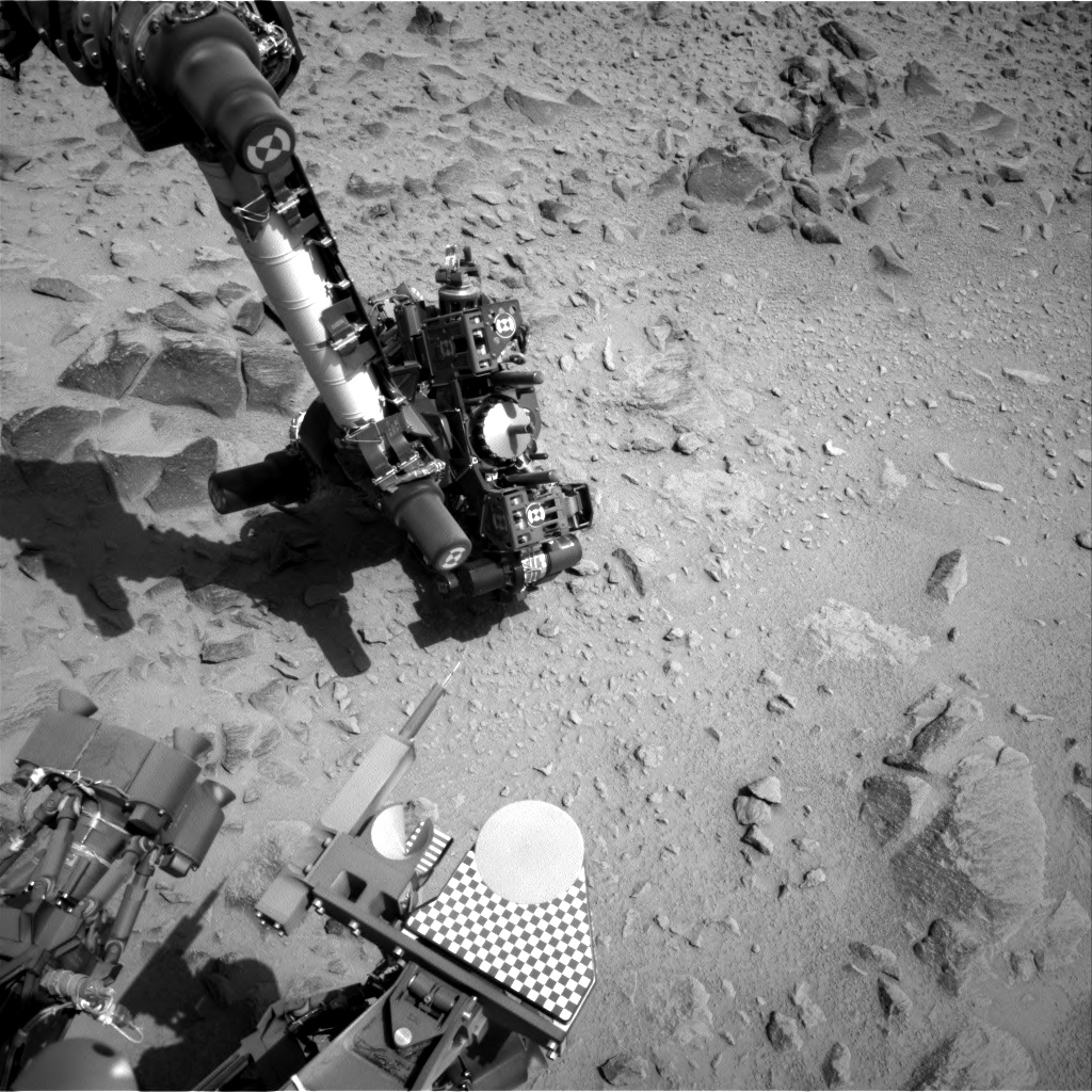 Nasa's Mars rover Curiosity acquired this image using its Right Navigation Camera on Sol 360, at drive 0, site number 12