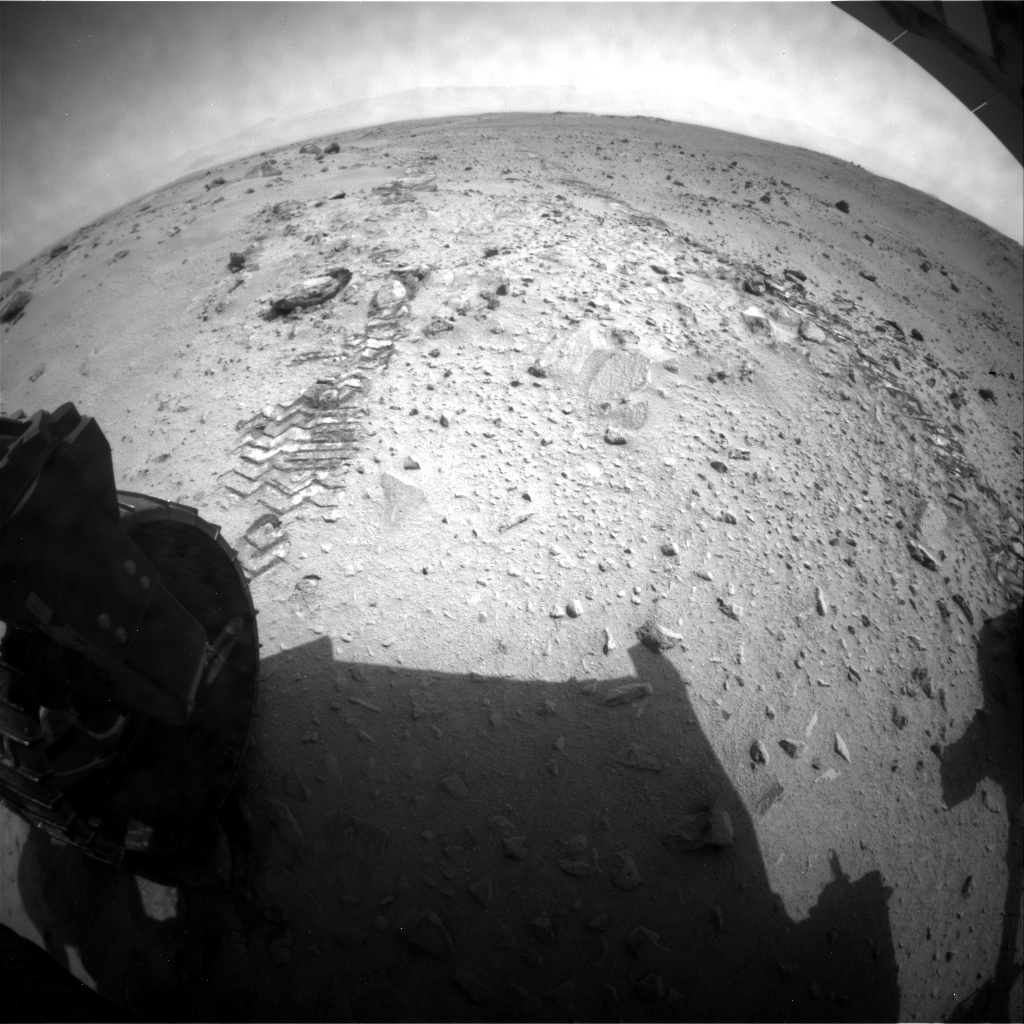 NASA's Mars rover Curiosity acquired this image using its Rear Hazard Avoidance Cameras (Rear Hazcams) on Sol 360