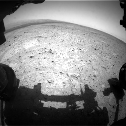 Nasa's Mars rover Curiosity acquired this image using its Front Hazard Avoidance Camera (Front Hazcam) on Sol 361, at drive 234, site number 12