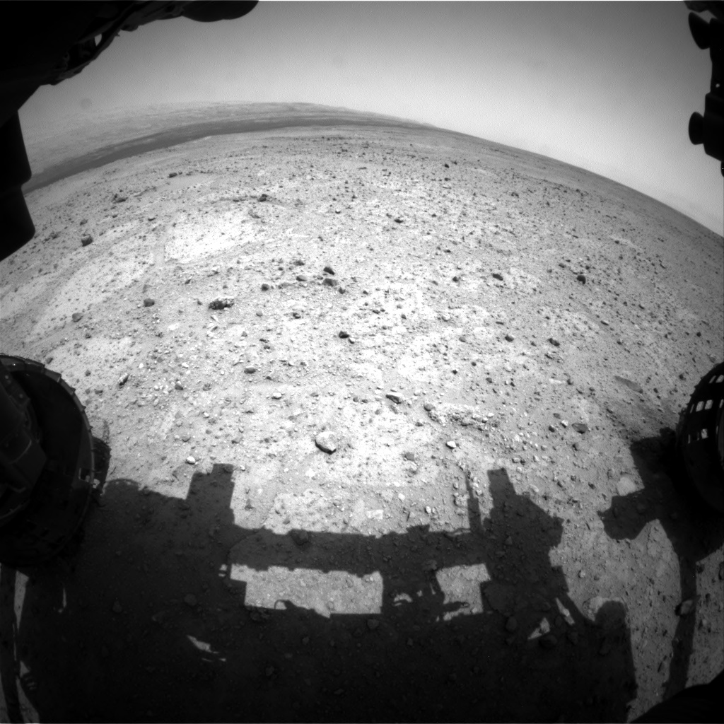 Nasa's Mars rover Curiosity acquired this image using its Front Hazard Avoidance Camera (Front Hazcam) on Sol 361, at drive 244, site number 12