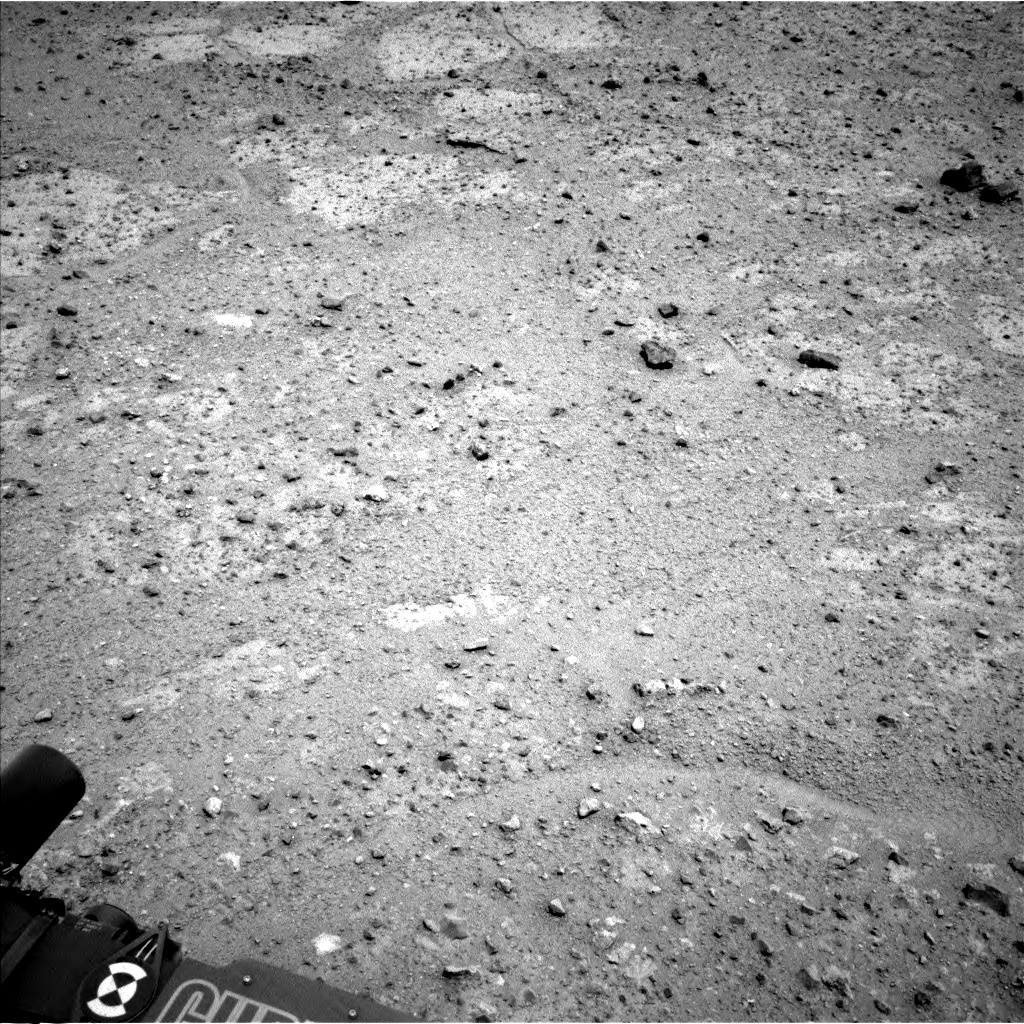 Nasa's Mars rover Curiosity acquired this image using its Left Navigation Camera on Sol 361, at drive 216, site number 12