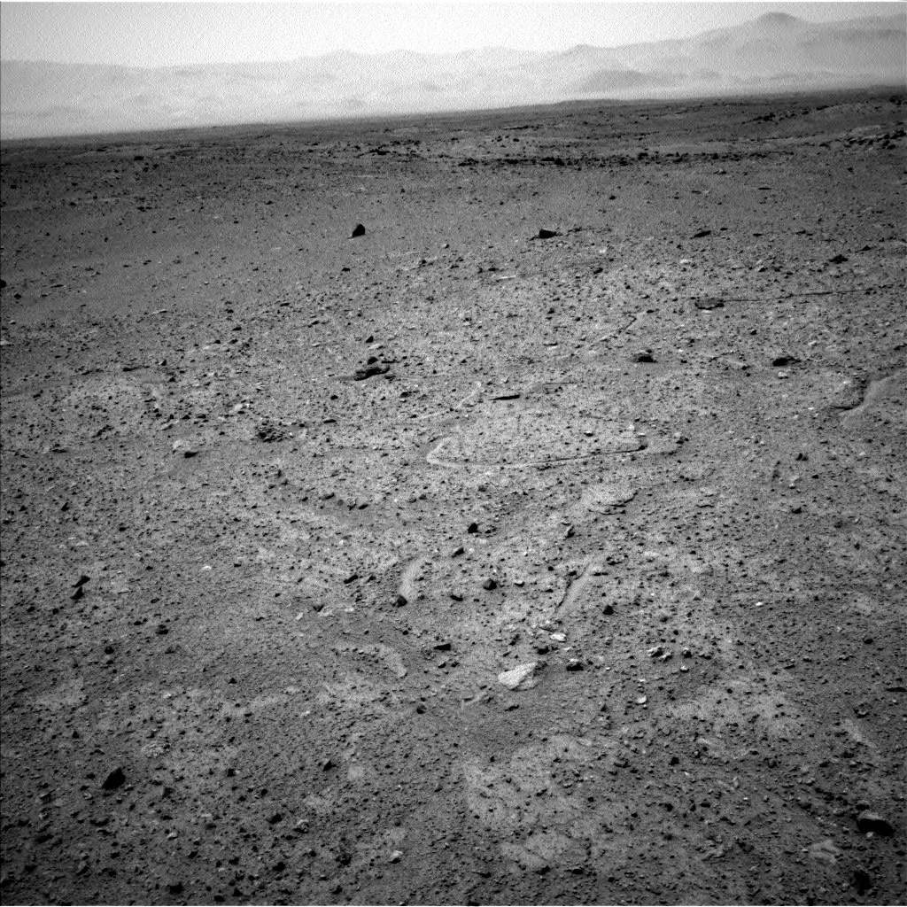 Nasa's Mars rover Curiosity acquired this image using its Left Navigation Camera on Sol 361, at drive 244, site number 12