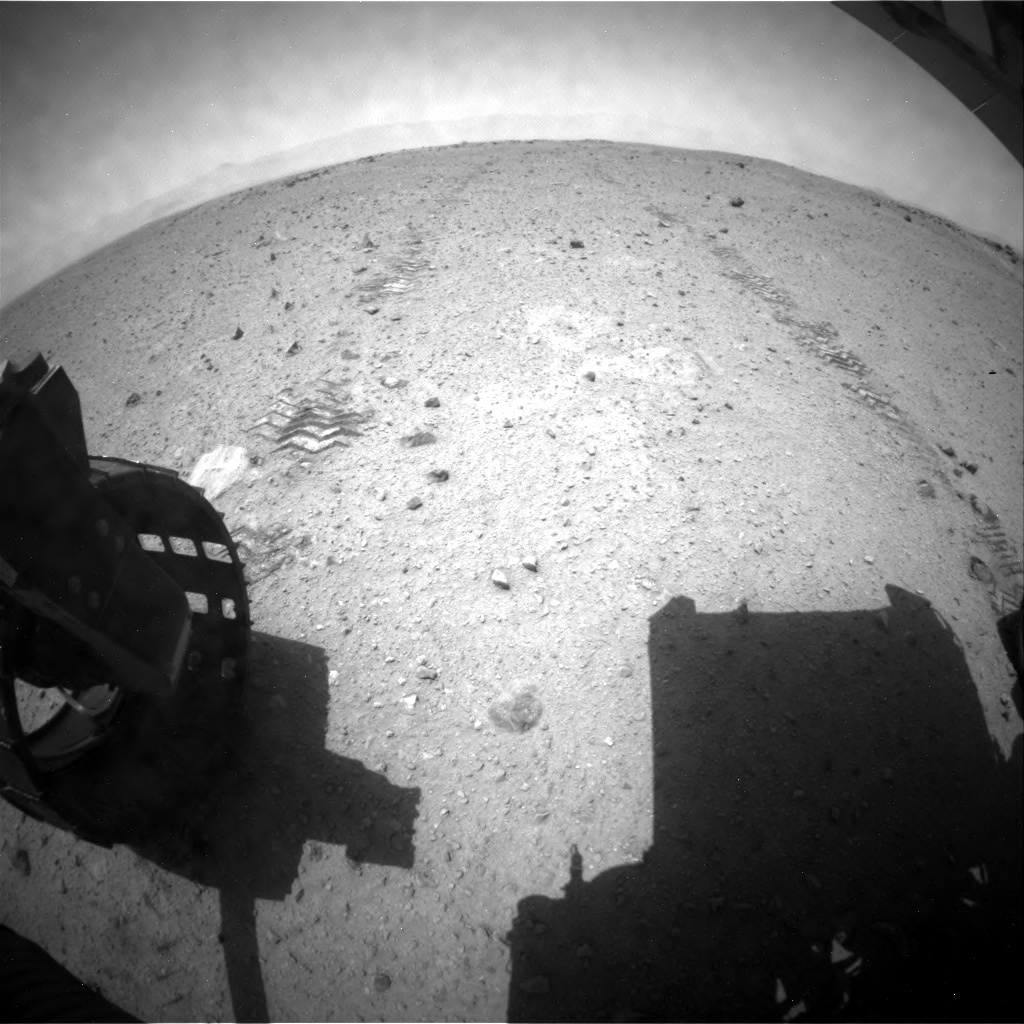 NASA's Mars rover Curiosity acquired this image using its Rear Hazard Avoidance Cameras (Rear Hazcams) on Sol 361