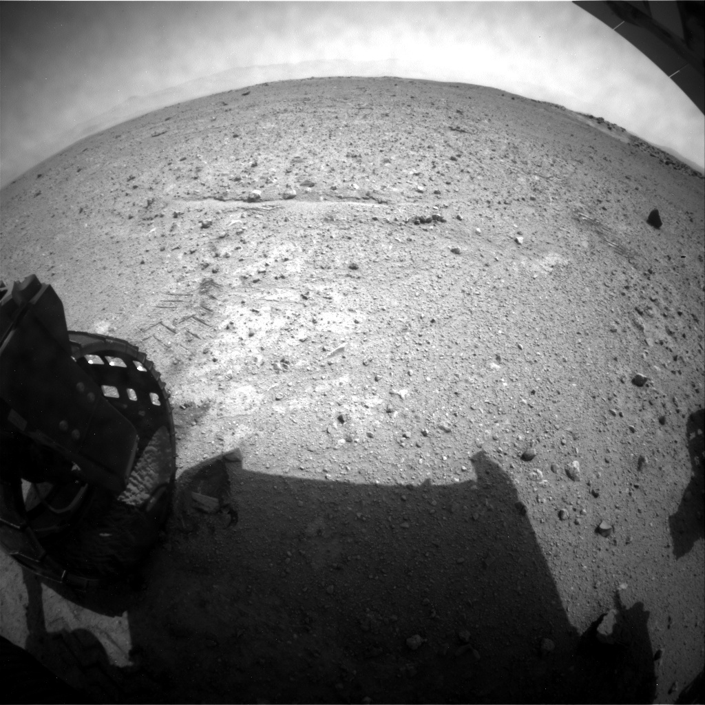 NASA's Mars rover Curiosity acquired this image using its Rear Hazard Avoidance Cameras (Rear Hazcams) on Sol 362