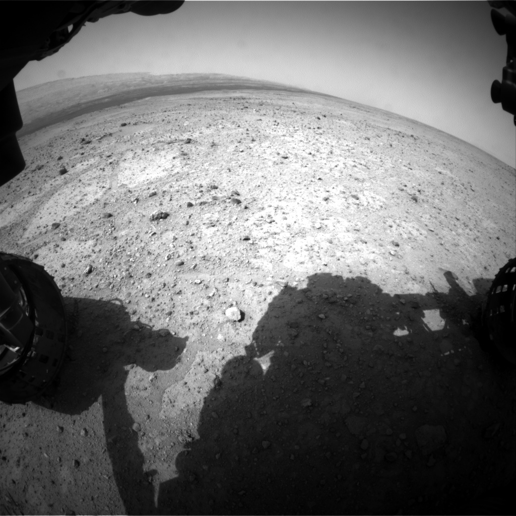 Nasa's Mars rover Curiosity acquired this image using its Front Hazard Avoidance Camera (Front Hazcam) on Sol 363, at drive 244, site number 12