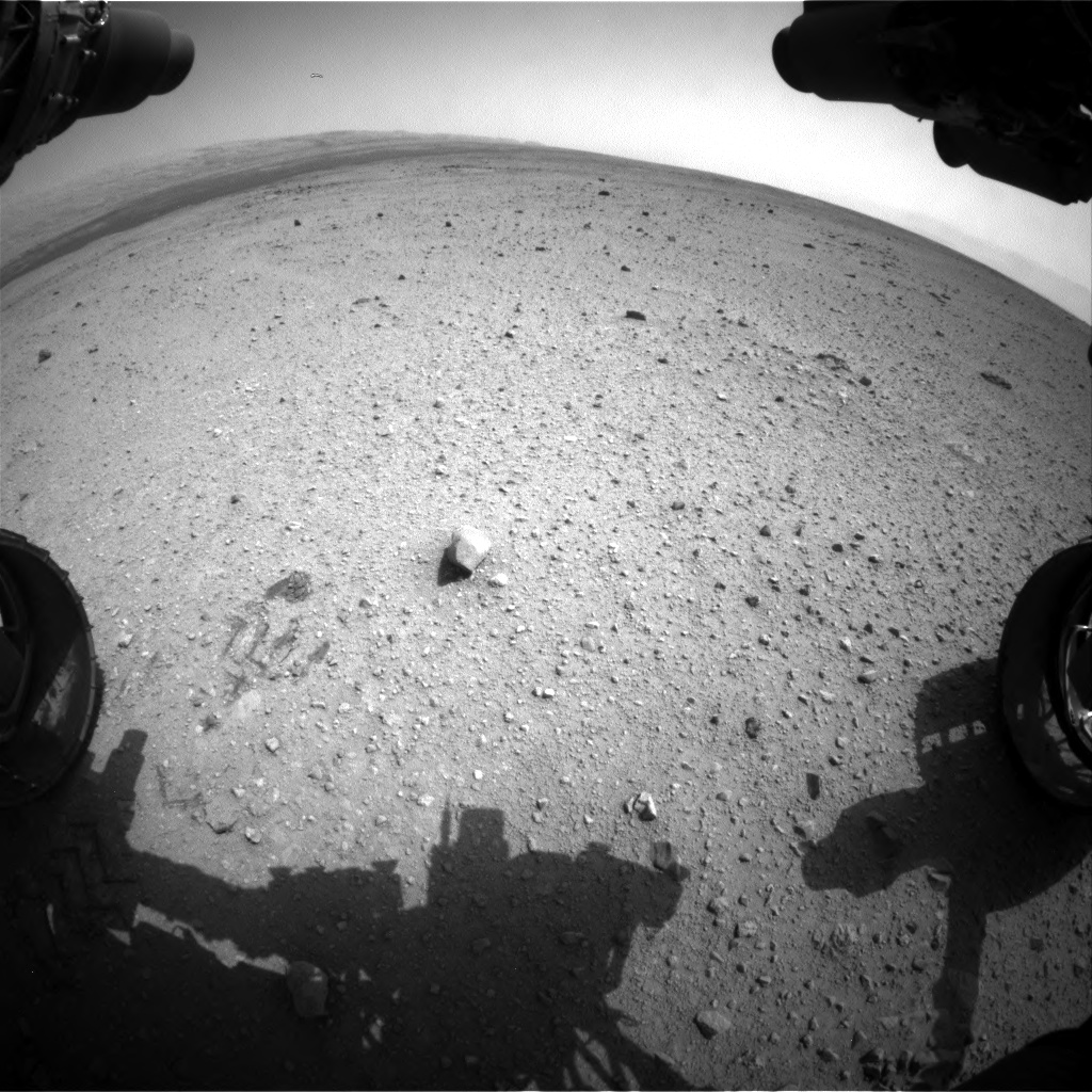 Nasa's Mars rover Curiosity acquired this image using its Front Hazard Avoidance Camera (Front Hazcam) on Sol 363, at drive 560, site number 12