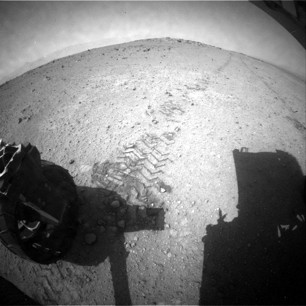 NASA's Mars rover Curiosity acquired this image using its Rear Hazard Avoidance Cameras (Rear Hazcams) on Sol 363