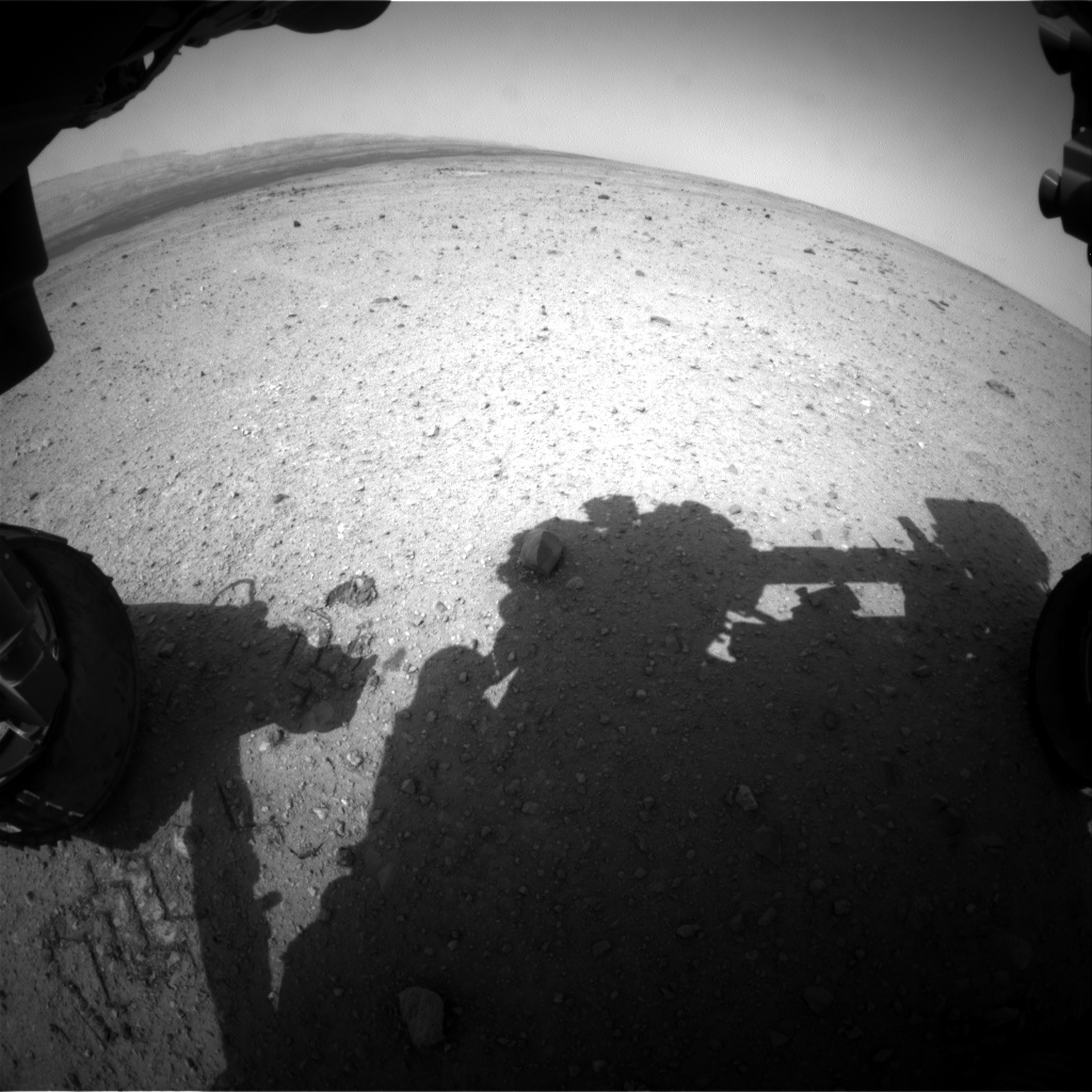 Nasa's Mars rover Curiosity acquired this image using its Front Hazard Avoidance Camera (Front Hazcam) on Sol 364, at drive 560, site number 12