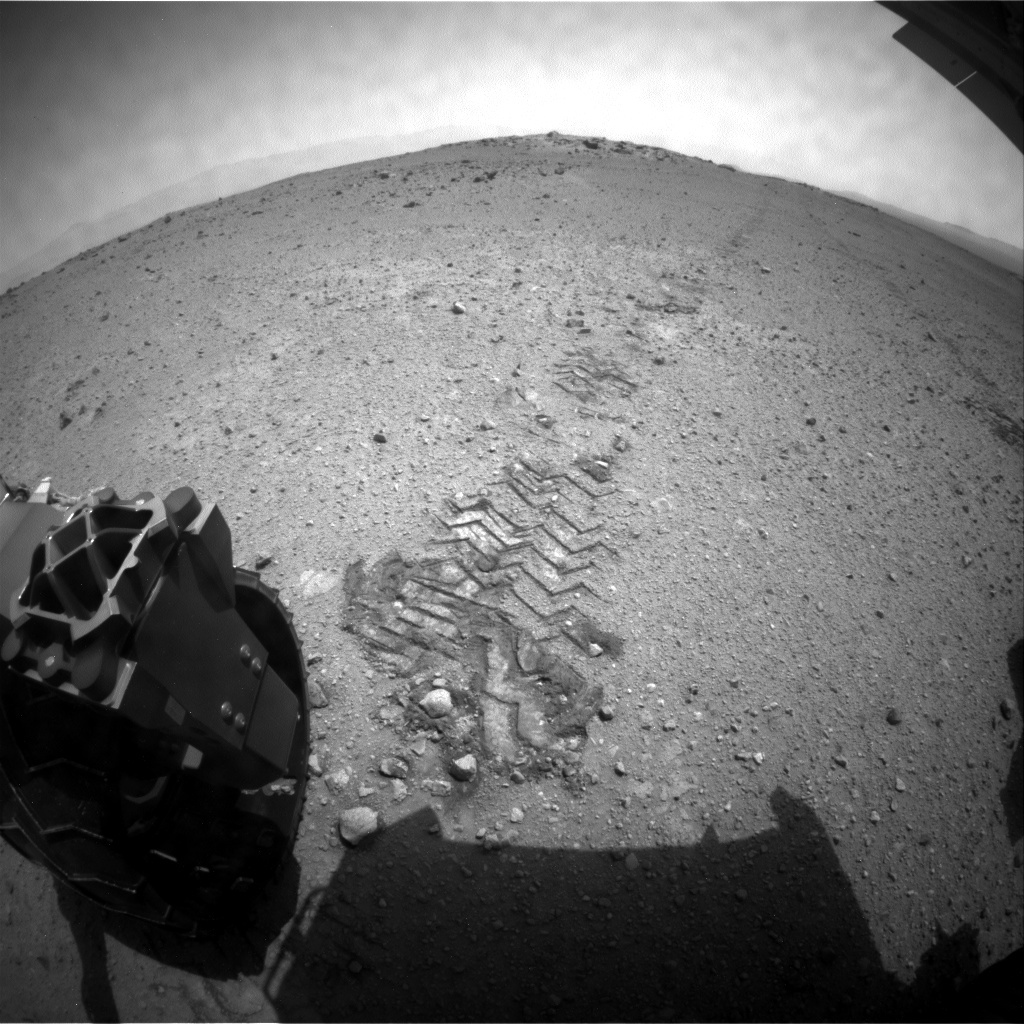 NASA's Mars rover Curiosity acquired this image using its Rear Hazard Avoidance Cameras (Rear Hazcams) on Sol 364