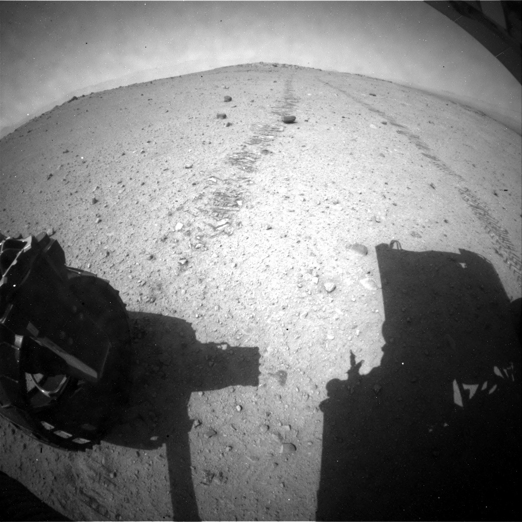 NASA's Mars rover Curiosity acquired this image using its Rear Hazard Avoidance Cameras (Rear Hazcams) on Sol 365