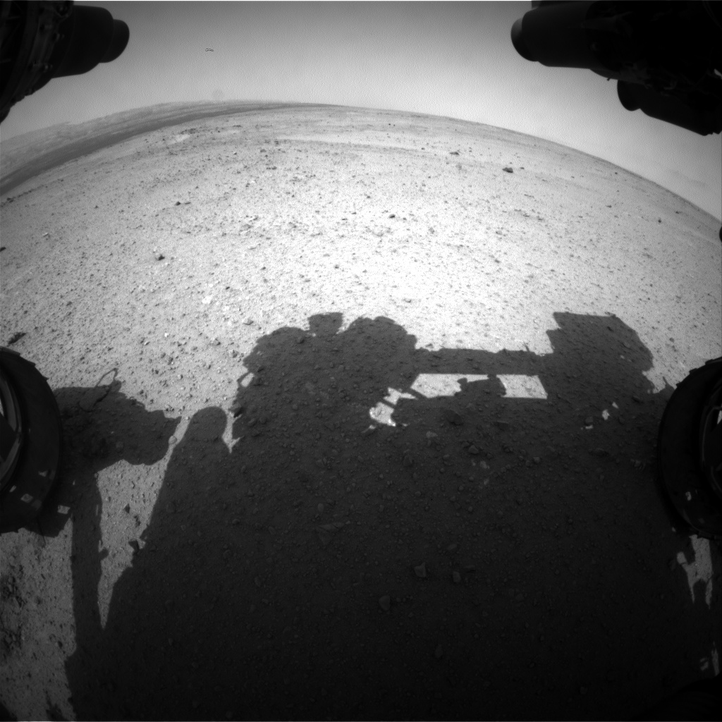 Nasa's Mars rover Curiosity acquired this image using its Front Hazard Avoidance Camera (Front Hazcam) on Sol 366, at drive 690, site number 12