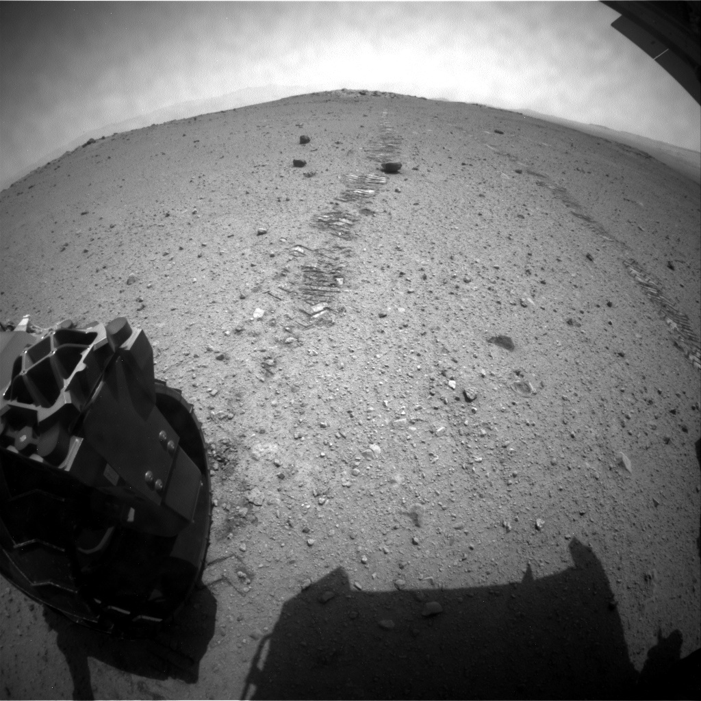 NASA's Mars rover Curiosity acquired this image using its Rear Hazard Avoidance Cameras (Rear Hazcams) on Sol 366