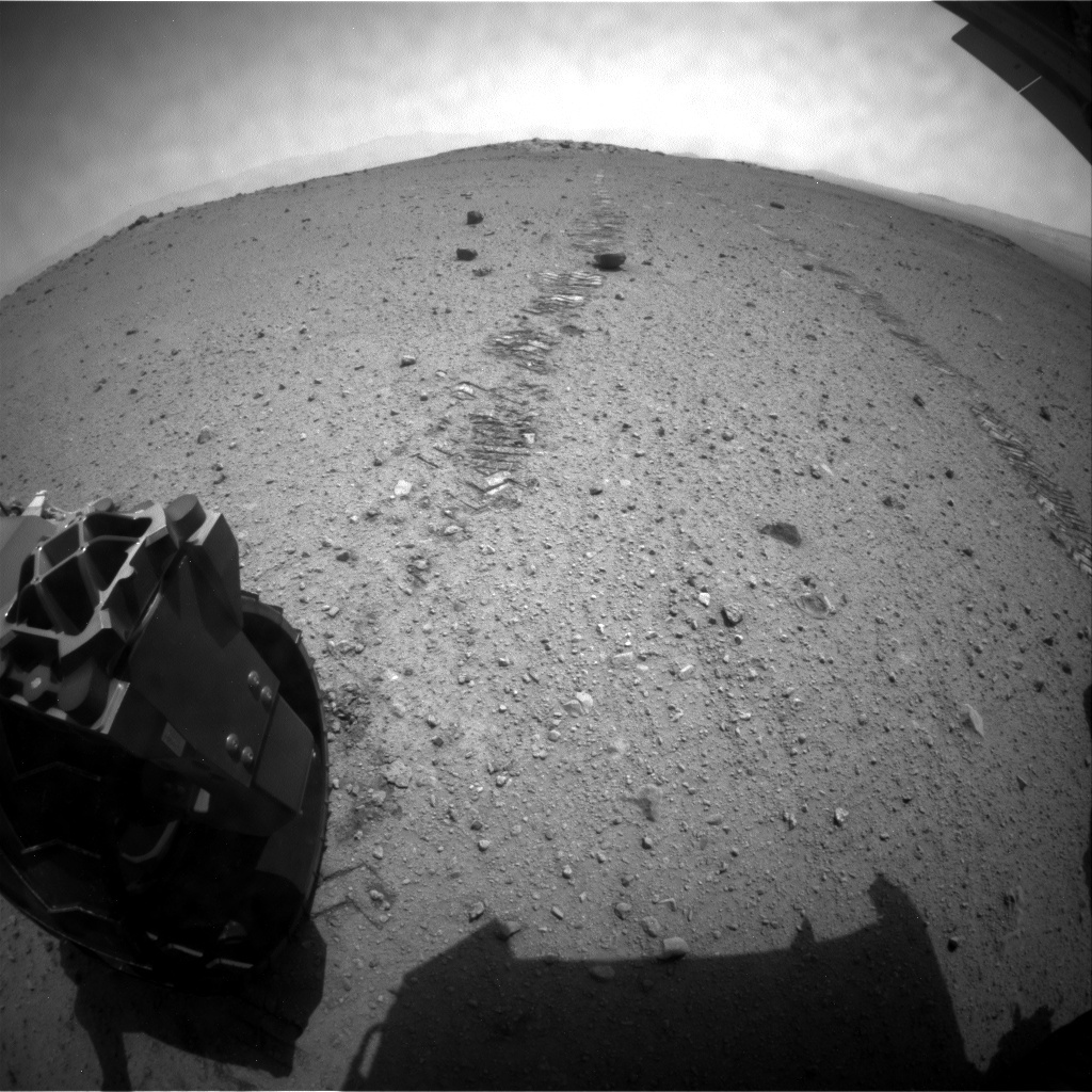 NASA's Mars rover Curiosity acquired this image using its Rear Hazard Avoidance Cameras (Rear Hazcams) on Sol 367