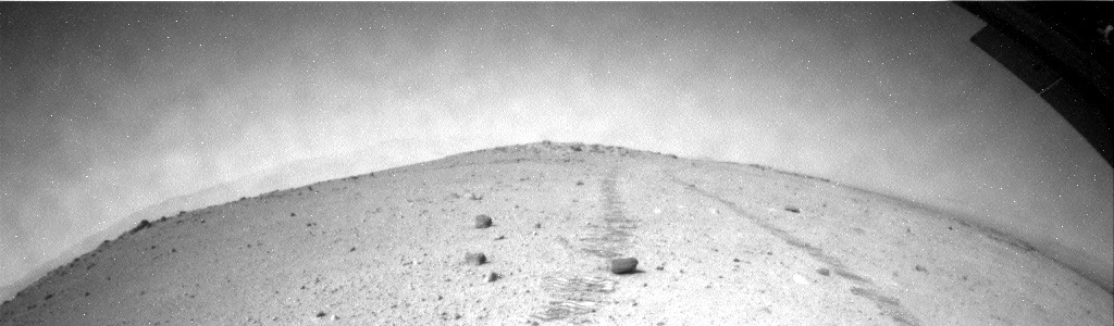 NASA's Mars rover Curiosity acquired this image using its Rear Hazard Avoidance Cameras (Rear Hazcams) on Sol 368